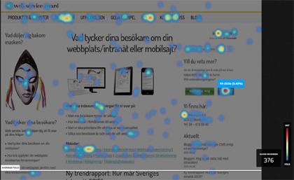 Bild över klickmönster via heatmaps