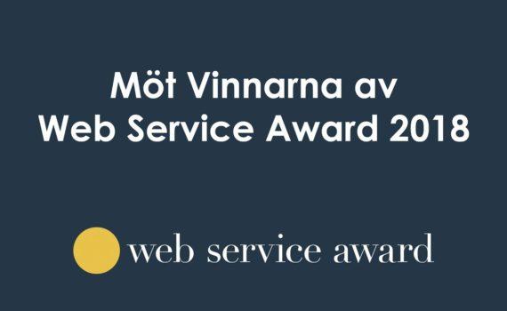 Se Möt vinnarna av Web Service Award live