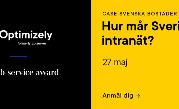 Optimizely webbinar 27 maj - Hur mår Sveriges intranät? Case Svensk Bostäder