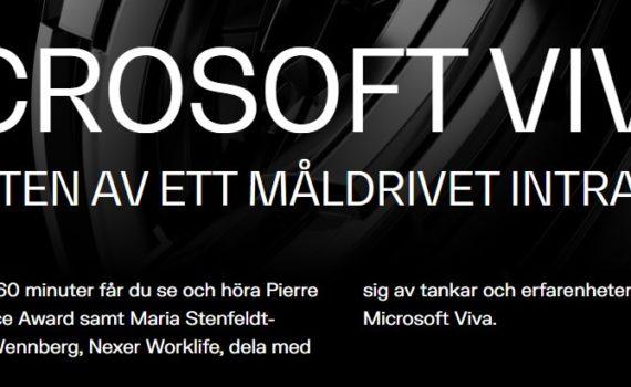 Nexer webbinar 17 juni - Microsoft VIVA och vikten av ett måldrivet intranät